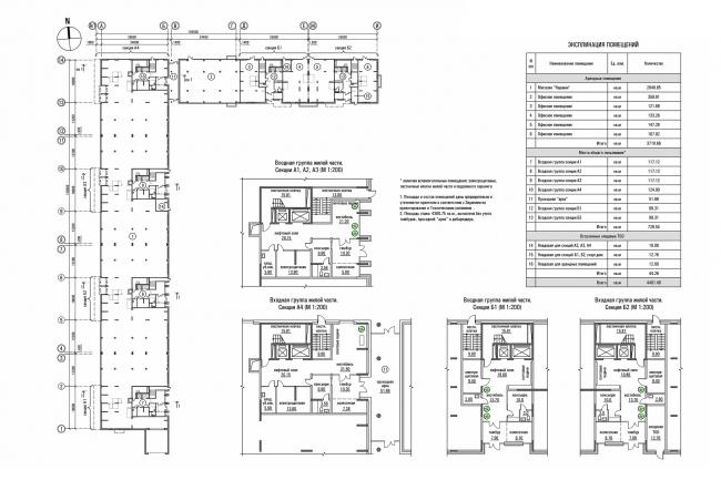 ЖК «Олимп». План 1 этажа © sp architect