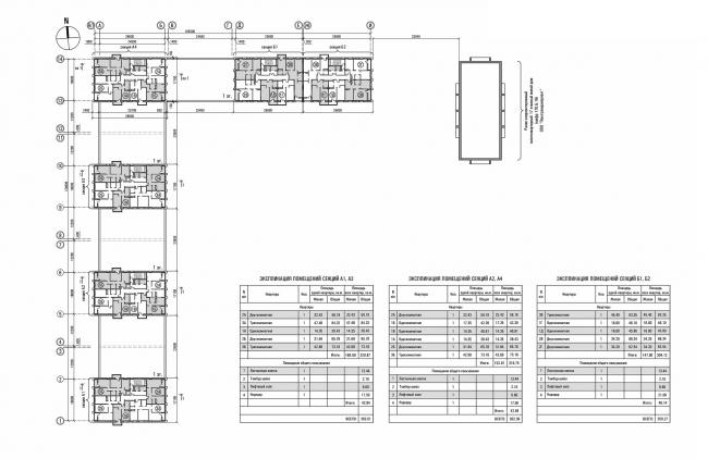 ЖК «Олимп». План типового этажа © sp architects