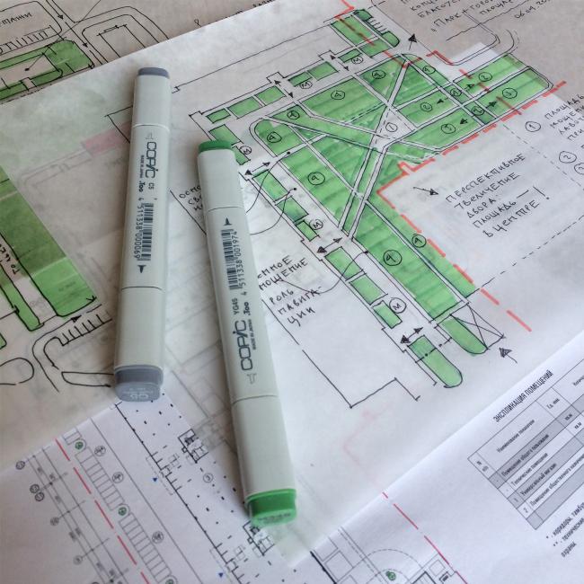 ЖК «Олимп». Эскиз. Благоустройство © sp architects
