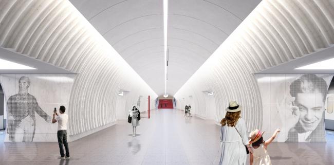 Конкурсный дизайн-проект станции «Шереметьевская» © Blank Architects