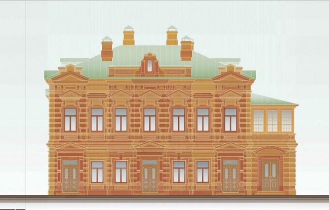Реставрация жилого дома А.Е. Третьяковой © ТИАМАТ-проект