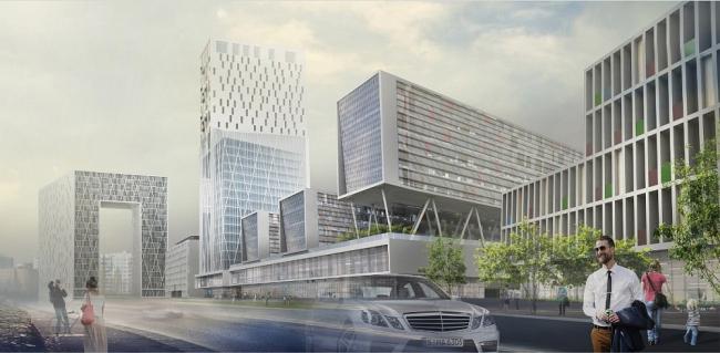 Многофункциональный комплекс на Хорошевском шоссе © Моспроект