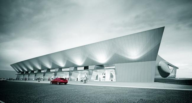 Проект нового пассажирского терминала международного аэропорта «Емельяново» в Красноярске © ООО «Спектрум-Холдинг»