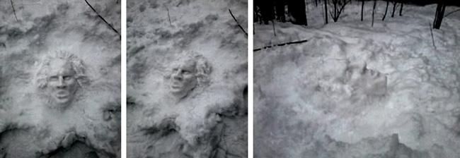 Маскарон из снега © Сергей Пронин