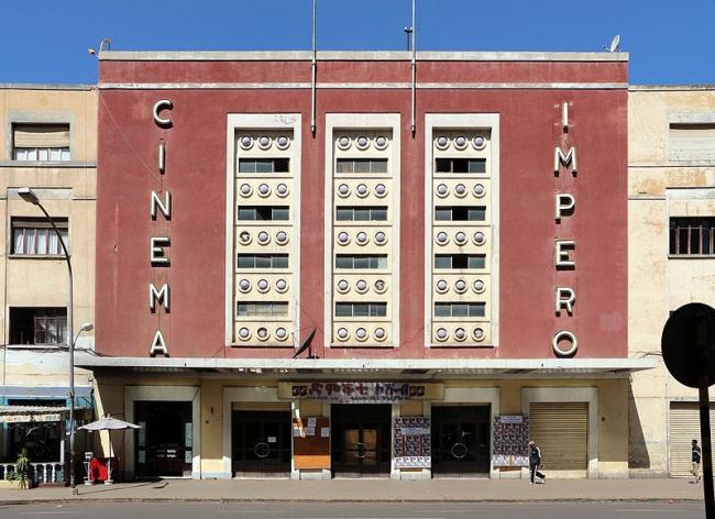 Асмэра. Кинотеатр «Имперо». 1937. Архитектор Марио Мессина. Фотограф sailko via Wikimedia Commons. Лицензия Creative Commons Attribution-Share Alike 3.0 Unported