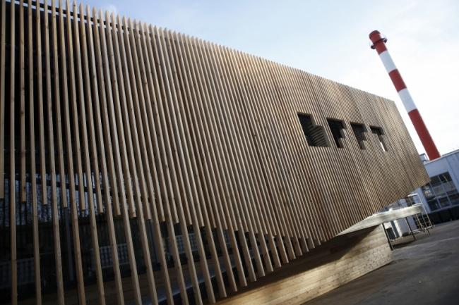 Входная группа архитектурно-образовательного пространства BFFT.space. Казанский государственный архитектурно-строительный университет. Ильнар и Резеда Ахтямовы. Фотография © Ильнар Ахтямов
