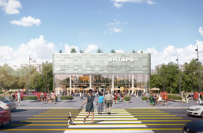 Концепция реконструкции кинотеатра «Янтарь». © ADG group