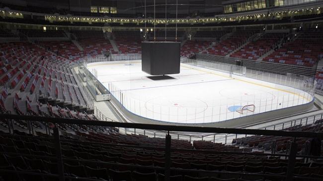 Большая ледовая арена для хоккея с шайбой © Архитектурная мастерская Ивана Князева