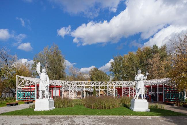 Entrance pavilion. Urban farm at VDNKH, 2nd stage. Wowhouse. Photograph © Mitya Chebanenko