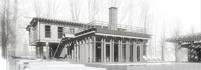 Загородный дом на берегу Пестовского водохранилища © Архитектурная мастерская Н.В. Белоусова