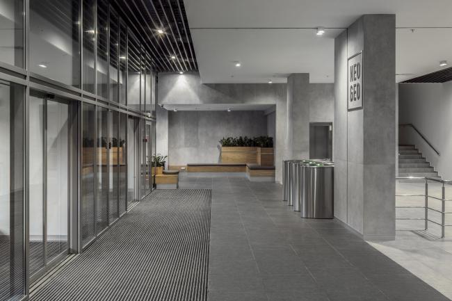 Концепция интерьеров общественных зон бизнес-центра Neo Geo.Лобби © Т+Т Architects