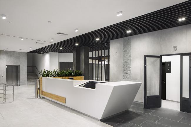 Концепция интерьеров общественных зон бизнес-центра Neo Geo. Лобби © Т+Т Architects