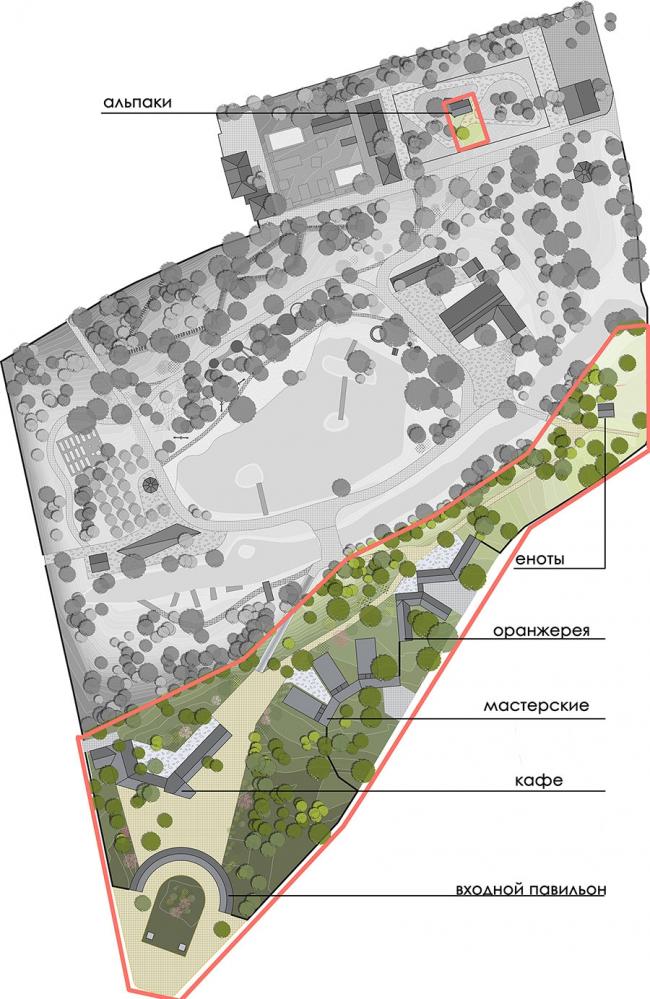 Basic layout. Urban farm at VDNKH. Wowhouse.