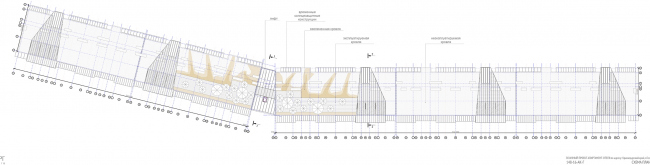 The project of an apratment hotel in Gelendzhik. Roof plan © Ginsburg Architects