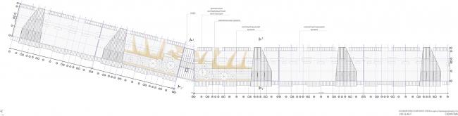 Проект апартамент-отеля в Геленджике. Схема плана кровли © Гинзбург Архитектс