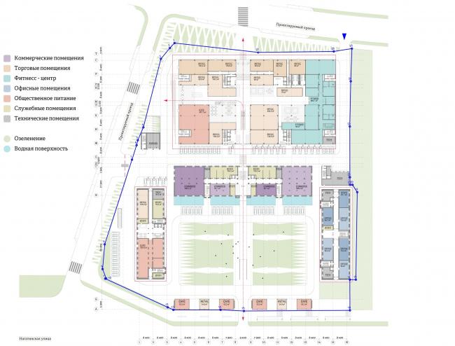 Многофункциональный комплекс «Ёлки-парк». План 1 этажа © Четвертое измерение