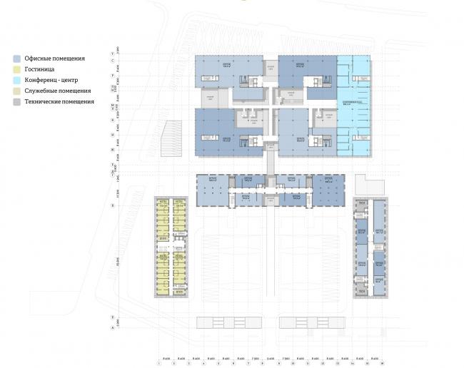 Многофункциональный комплекс «Ёлки-парк». План 3 этажа © Четвертое измерение