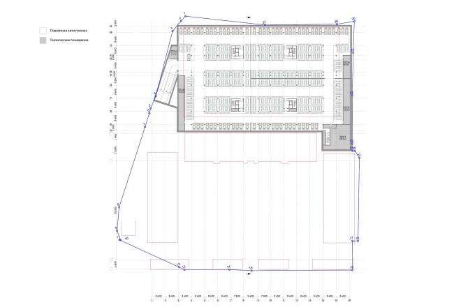 Многофункциональный комплекс «Ёлки-парк». План -3 этажа © Четвертое измерение