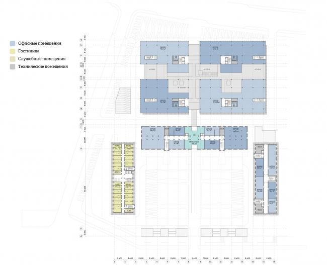 Многофункциональный комплекс «Ёлки-парк». План 4 этажа © Четвертое измерение