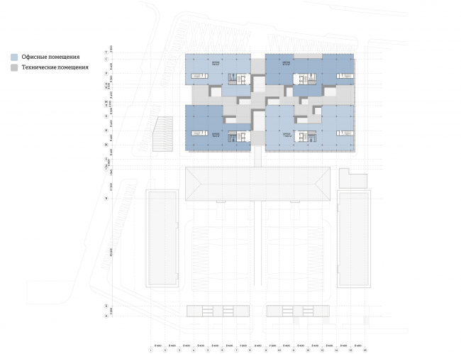 """""""Yolki-Park"""" multifuctional complex. Plan of the 6th floor © The Fourth Dimension"""