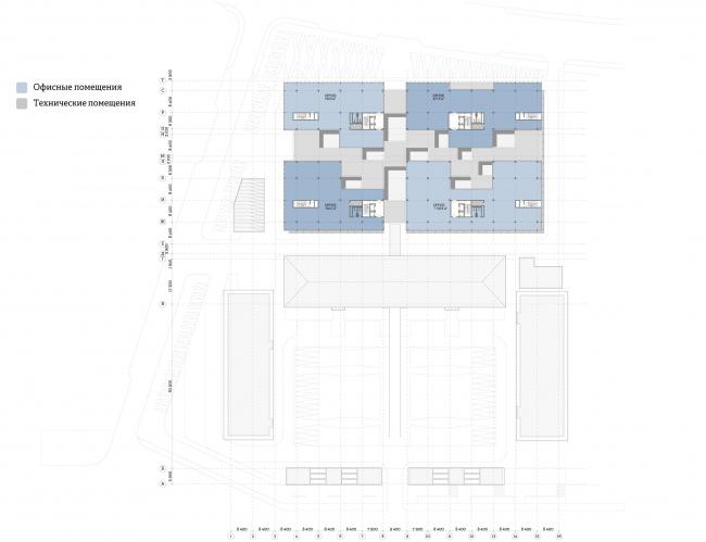 Многофункциональный комплекс «Ёлки-парк». План 6 этажа © Четвертое измерение