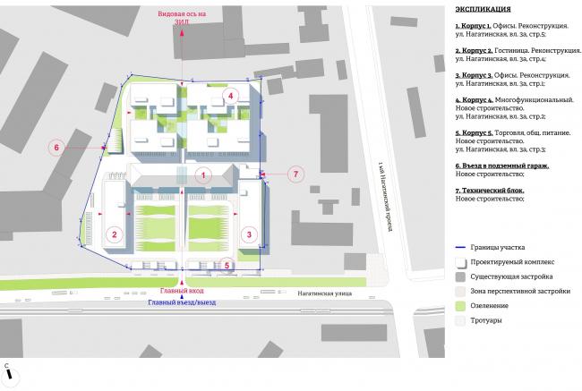 Многофункциональный комплекс «Ёлки-парк». Генеральный план © Четвертое измерение
