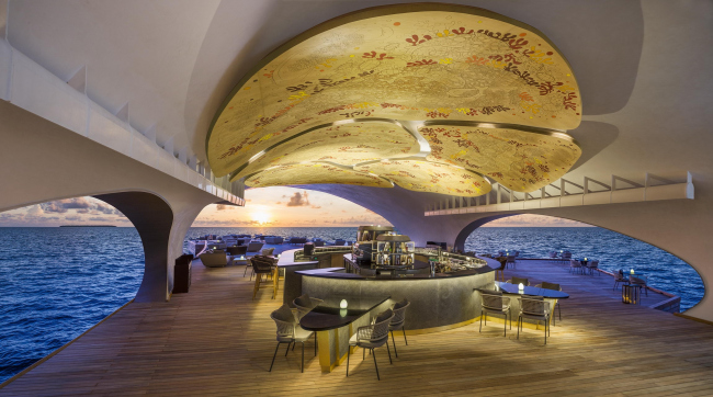 Бар The Whale Bar на Мальдивских островах © WOW Architects | Warner Wong Design