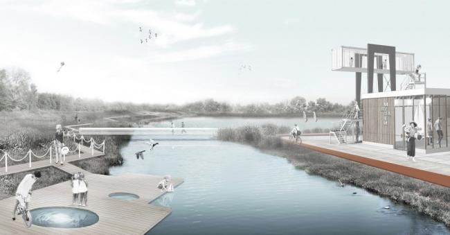 Проект создания единого рекреационного пространства «Парк Яуза» © ООО «НПО «Вектор» НИУ «МГСУ»