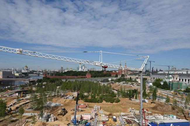Парк «Зарядье» в процессе строительства. Фото © Илья Иванов