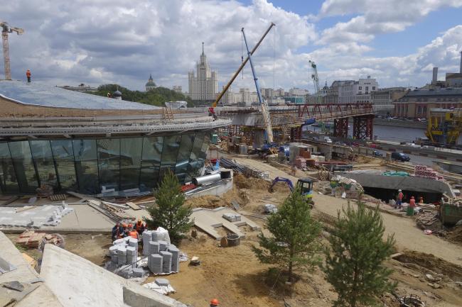 Парк «Зарядье» в процессе строительства. Рынок. Фото © Мария Крылова