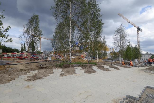 Парк «Зарядье» в процессе строительства. Фото © Мария Крылова