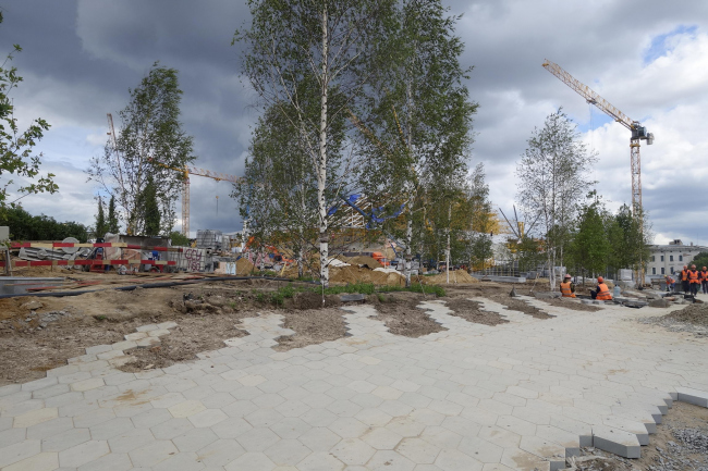 Zaryadye Park. Construction photo © Maria Krylova