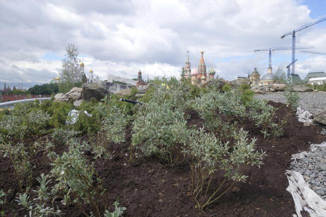Парк «Зарядье» в процессе строительства. Зона тундры. Фото © Мария Крылова