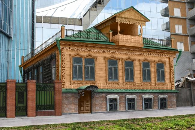 Реставрация дома, в котором жил Аркадий Гайдар ©   ФГБОУ ВПО «Уральская государственная архитектурно-художественная академия»