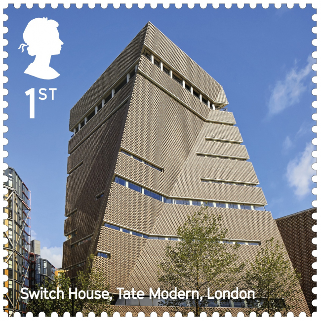 Корпус Блаватник-билдинг (бывший Switch House) Галереи Тейт Модерн. Landmark Buildings © Royal Mail
