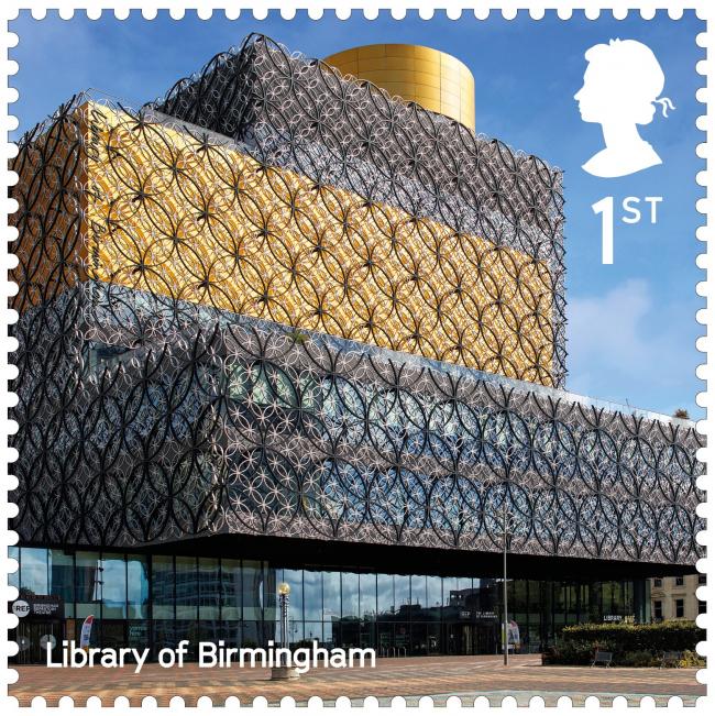 Библиотека Бирмингема. Landmark Buildings © Royal Mail