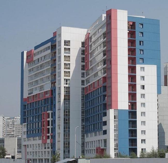Здание казармы в городке ОМОН в Строгино © ГУП МНИИП «Моспроект-4»