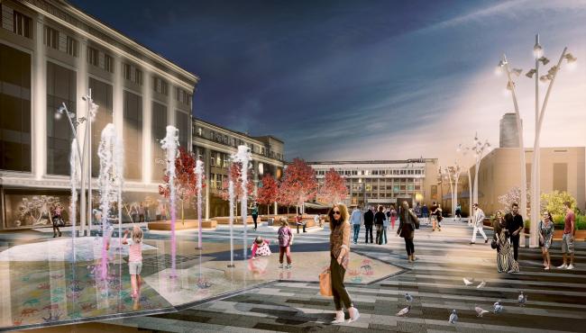 Проект благоустройства площади и переулков в Екатеринбурге © КБ «Стрелка» + АБ «Ин.форм»