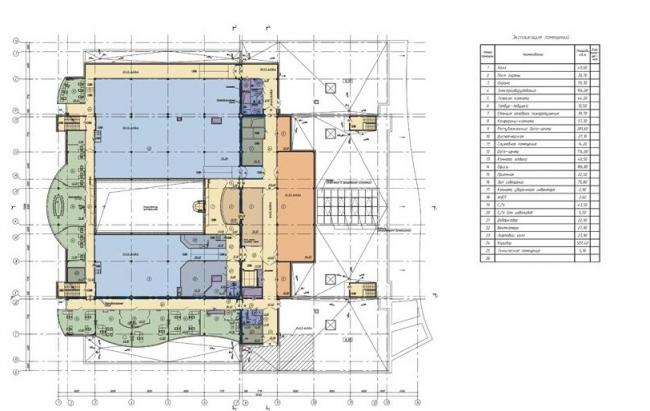 IT-Парк в Казани. План 5 этажа © ЗАО «Казанский ГипроНИИавиапром»