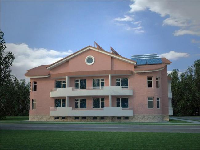 Энергоэффективный дом в пос. Экодолье © Оребурггражданпроект + Perkins Eastman