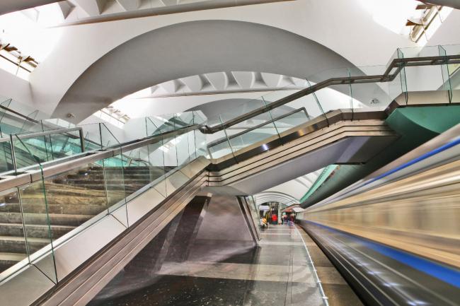 Станция московского метрополитена «Зябликово». Фотография предоставлена Союзом московских архитекторов