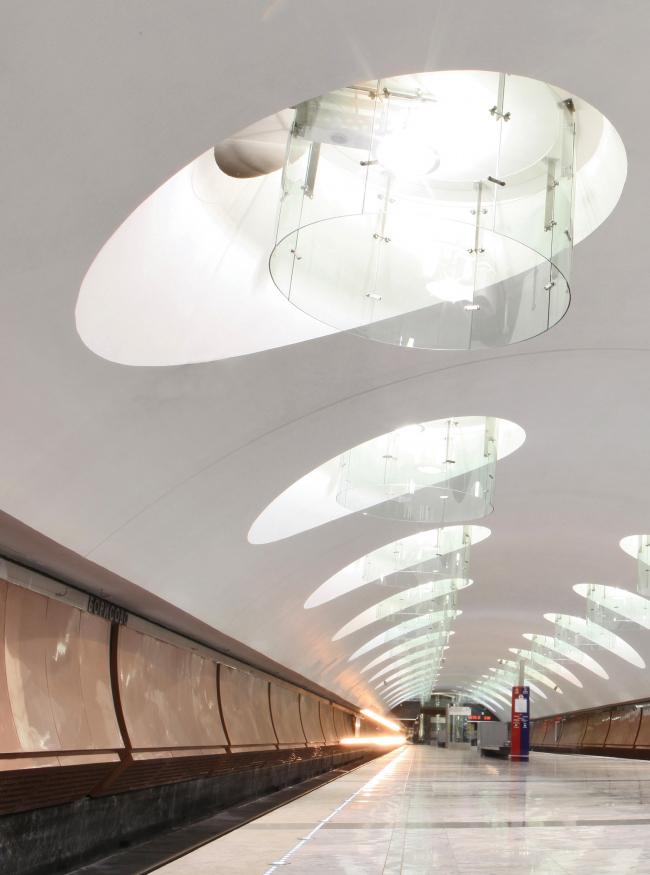 Станция московского метрополитена «Борисово». Фотография предоставлена Союзом московских архитекторов