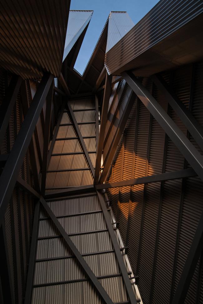 "Metallic tower on the inside. Repository museum of ""Alliance-1892"" cognac house. Photograph © Gleb Leonov"