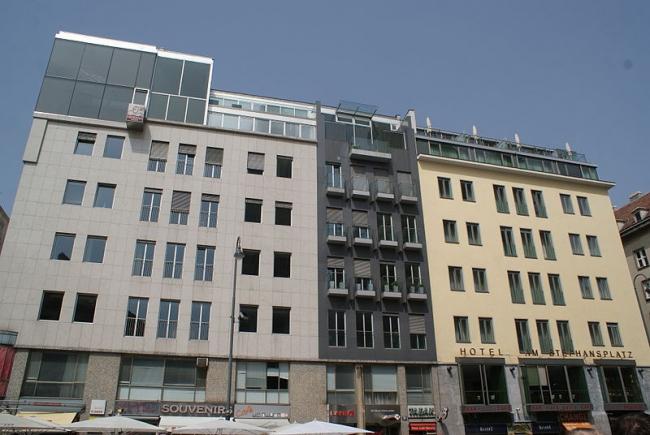 Дом Generali - пентхаус. Фото: Хомелка via Wikimedia Commons. Лицензия CC-BY-SA-3.0
