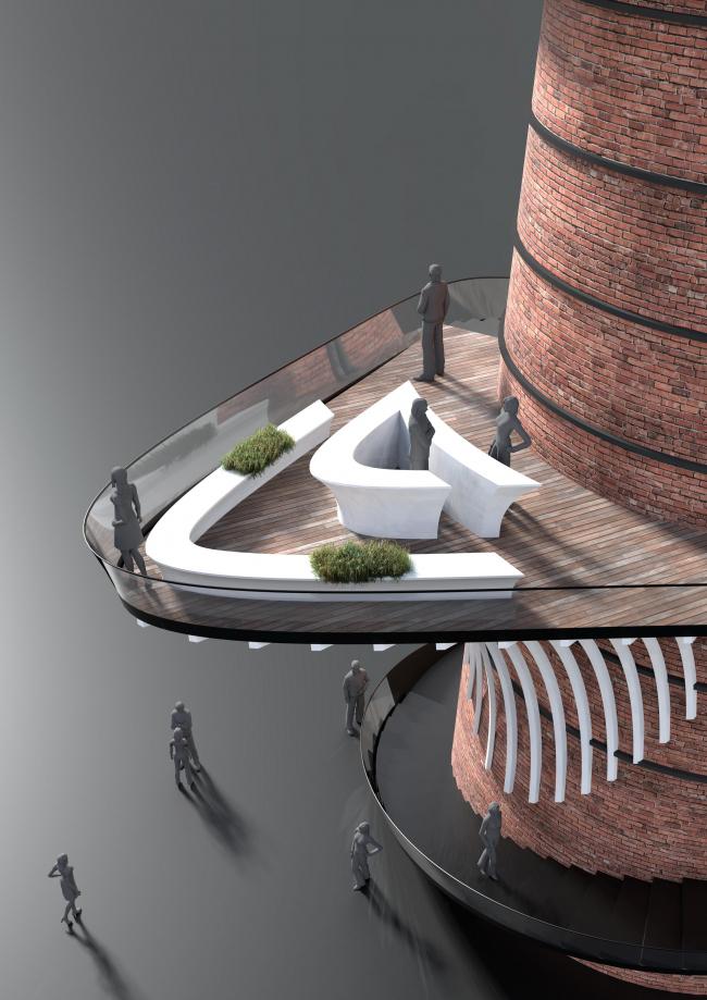 «Кардио-башня». Конкурсный проект для UNIT.City © Dmytro Aranchii Architects