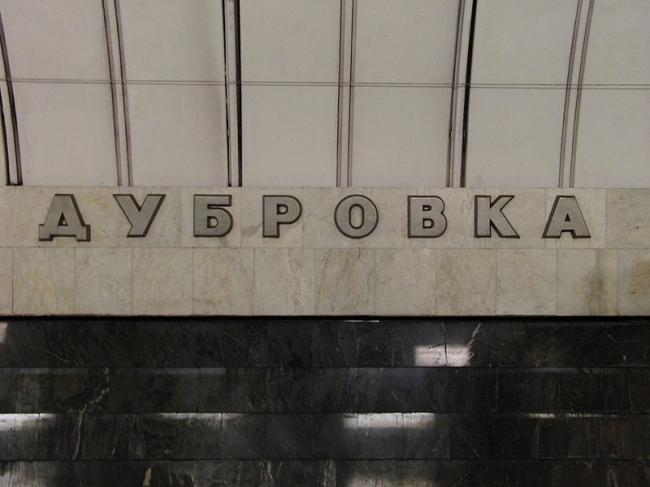 Станция метро «Дубровка». Фото: Mikhail (Vokabre) Shcherbakov via Wikimedia Commons. Лицензия CC BY-SA 2.0