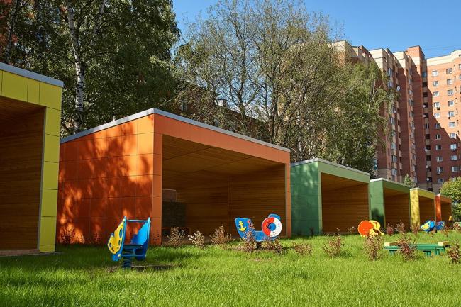 Детский сад на 140 мест в г. Мытищи © Архитекторы В. Бакеев, А. Бакеева, А. Алексеев и др.