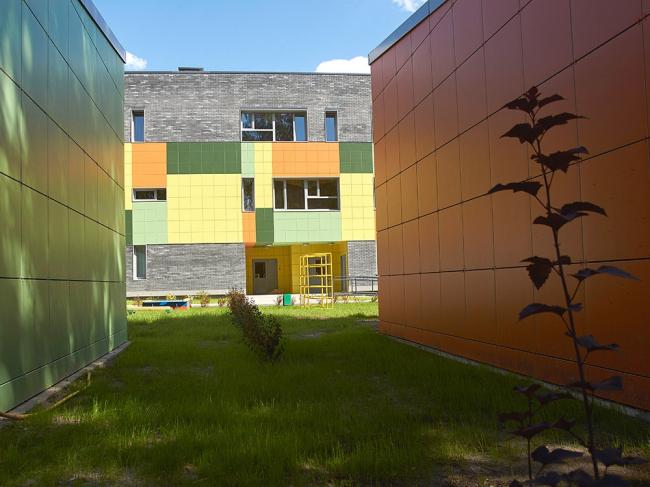 Детский сад на 140 мест в г. Мытищи © Архитекторы В.Бакеев, А.Бакеева, А.Алексеев и др.