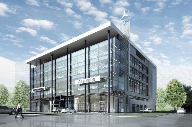 Автосервисный комплекс «Авангард» © Архитектурное бюро «А.Лен» (7)