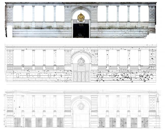 Реконструкция двора Музея Виктории и Альберта © AL_A